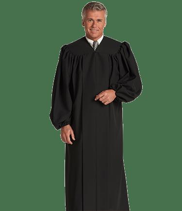 Black Baptismal Robe for Men and Women