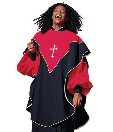 Choir Overlay with Cross