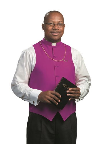 Church Purple Clergy Shirt Front