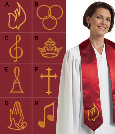 Embroidered Choir Stole Scarlet