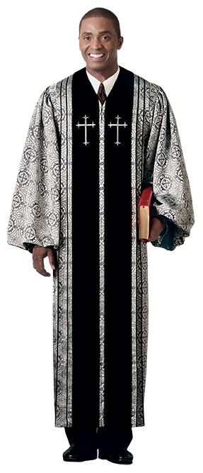 Pulpit Clergy Robe Bishop with Black Trim