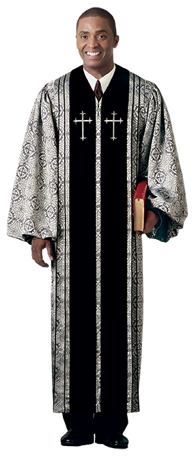 Pulpit Clergy Robe Bishop with Black Trim