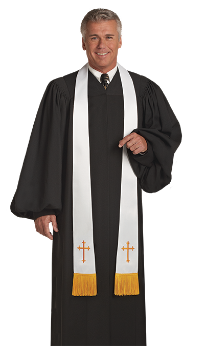 c7d10901ae Men s Plain Black Clergy Robe
