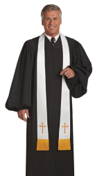 Pulpit Clergy Robe Geneva Black
