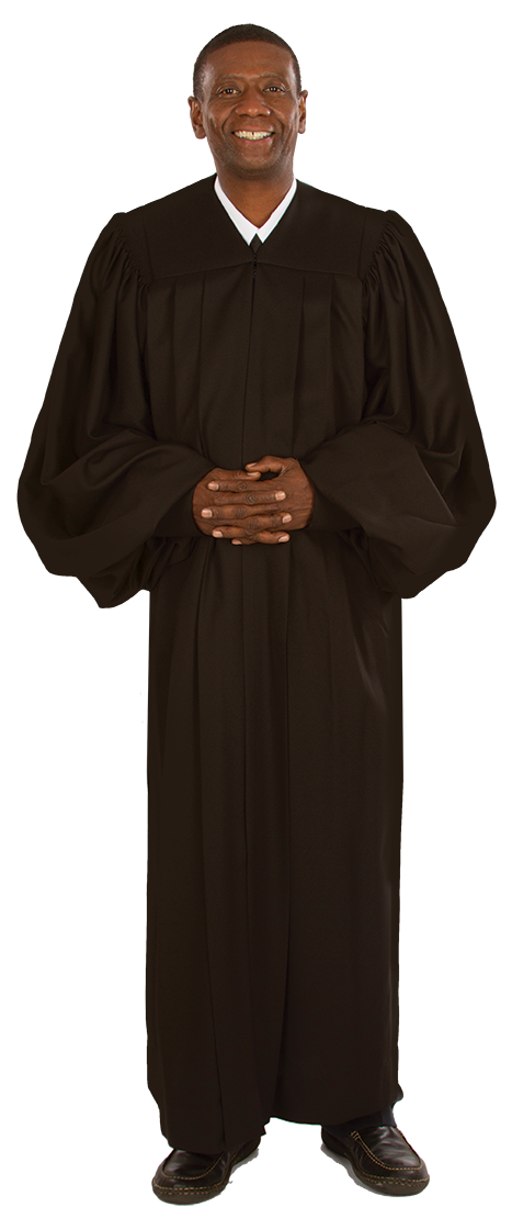 79e6cf354f Black Clergy Robe for Men