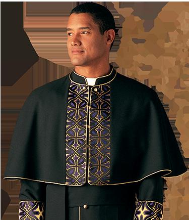 Radiance Brocade Clergy Cape