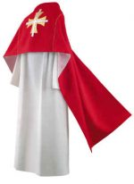 Red Thomas Cross Clergy Humeral Veil