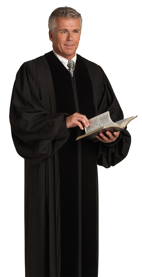 Traditional Clergy Pulpit Robe John Wesley Black