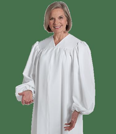 White Baptismal Robe for Men and Women