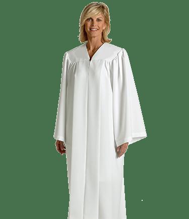 White Baptismal Robe for Candidates