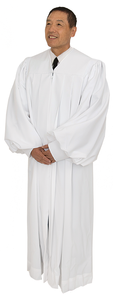 White Clergy Pulpit Robe Plymouth