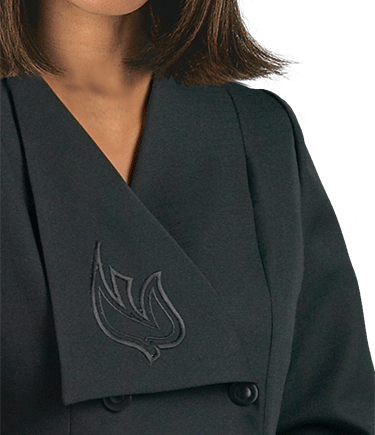 Women's Black Clergy Jacket with Dove