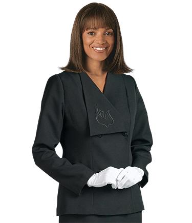 Womens Black Clergy Suit Jacket