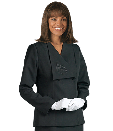 Womens Black Clergy Suit Jacket