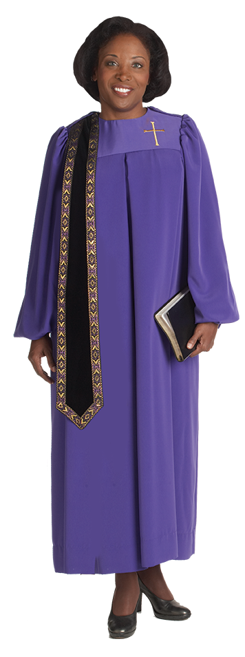 Womens Purple Clergy Robe