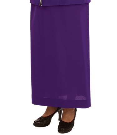 Womens Purple Clergy Skirt