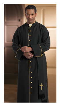 black and gold contemporary clergy cassock