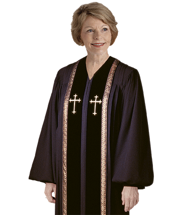 Black Clergy Robes for Women
