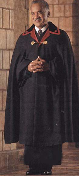 black ministerial clergy cape