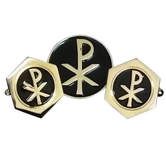 Chi Rho Cuff Links