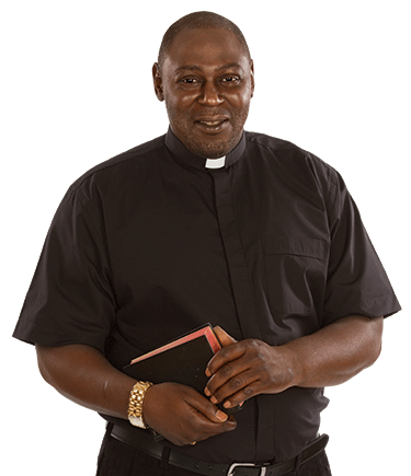 Men's Short Sleeve Tab Collar Black Clergy Shirt
