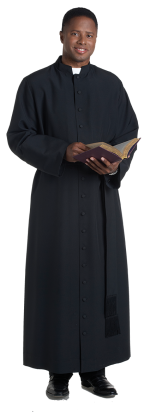 traditional bishop cassock black