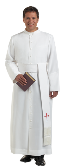 white clergy bishop cassock