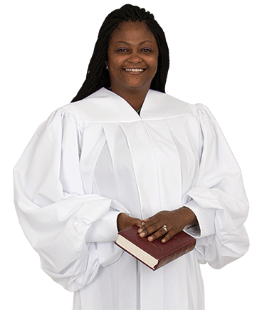 Plain White Pulpit Robe for Women