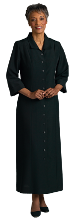 womens black tailored church dress