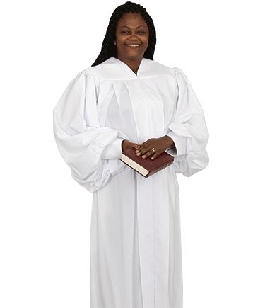 Women's Plain White Pulpit Robe