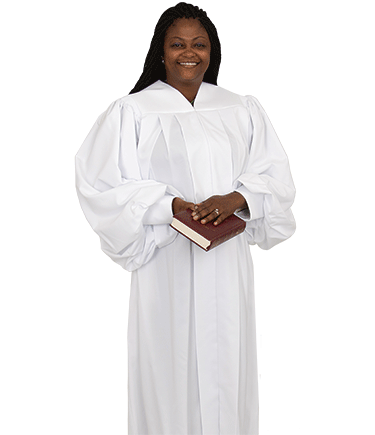 Women's Plain White Pulpit Robe