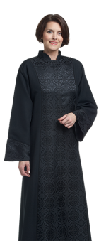 womens tailored preaching dress with brocade