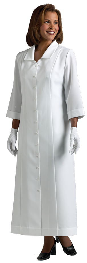 womens white clergy dress