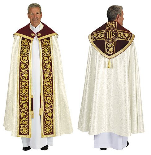 Jacquard Clergy Cope with Inner Stole
