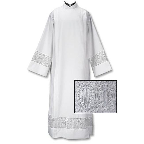 Latin Cross and IHS Clergy Alb