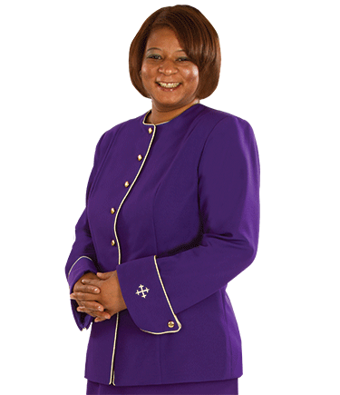 Womens Purple Clergy Jacket