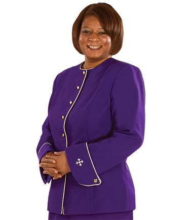Womens Purple Clergy Jacket
