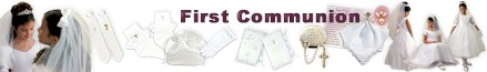 First Communion Dresses and Veils