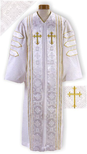 White Clergy Robes with Doctoral Bars