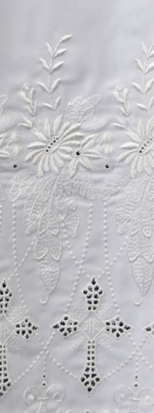 Clergy Surplice with Embroidered Crosses