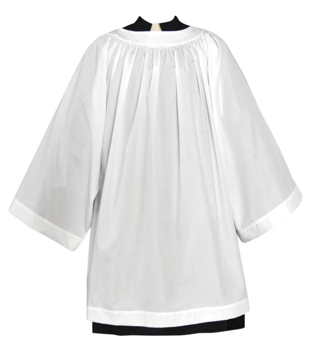 Cotton Blend Clergy Surplice with Round Neck