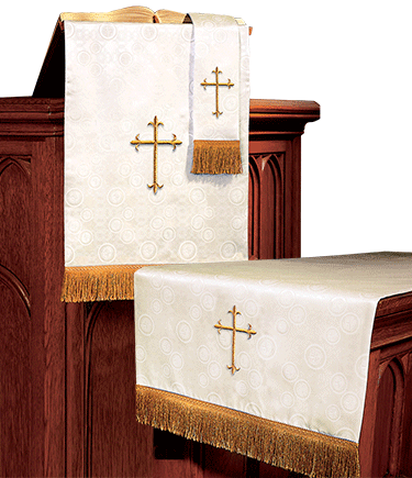 Church Altar Parament Set Ivory Brocade