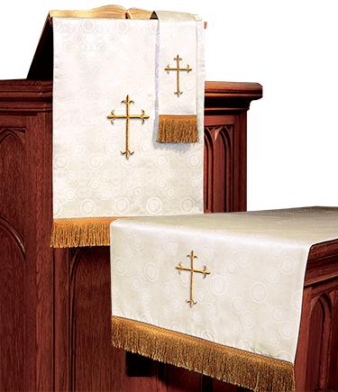 Church Altar Parament Set Ivory Brocade