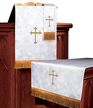 Church Altar Parament Set White Brocade