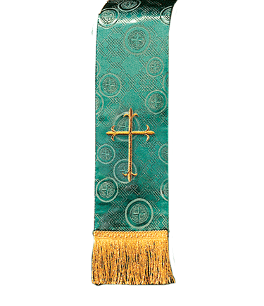 Church Bible Marker Green Brocade