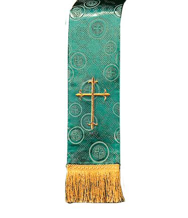 Church Bible Marker Green Brocade