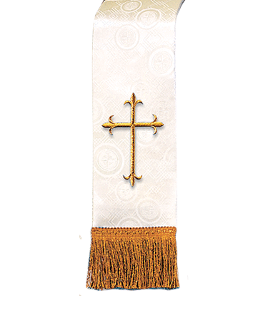 Church Bible Marker Ivory Brocade
