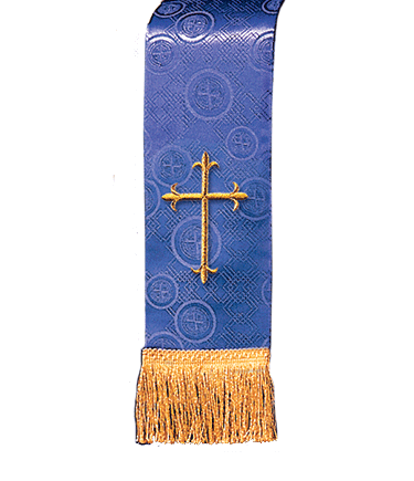 Church Bible Marker Purple Brocade