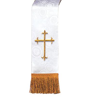 Church Bible Marker White Brocade