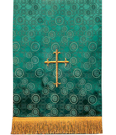 Church Lectern Pulpit Scarf Green Brocade